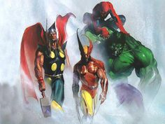 Thor, Wolverine, Spider-Man & Hulk