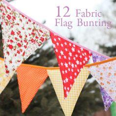 2.5m Multicolor Handmade 12flags Banner Garland Wedding Party Decoration - Wedding Look