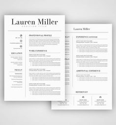 Exclusive Deal Get  Resume Templates   Matching Cover Letters