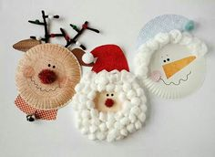 60 christmas decorations using paper plates-christmas craft - paper plate angel - paper plate craft. YOUR HOME DECORE christmas decorations using paper plates - Diy Christmas Decorations Using Paper Plates Winter and Christmas arts and crafts for kids and Preschool Christmas, Christmas Crafts For Kids, Christmas Activities, Christmas Projects, Kids Christmas, Christmas Paper, Paperplate Christmas Crafts, Merry Christmas, Handmade Christmas