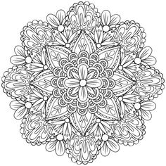 Awesome Most Popular Embroidery Patterns Ideas. Most Popular Embroidery Patterns Ideas. Cool Coloring Pages, Flower Coloring Pages, Mandala Coloring Pages, Coloring Pages To Print, Coloring Books, Mandala Art, Mandala Drawing, Colorful Drawings, Colorful Pictures