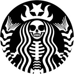 Scary Starbucks pumpkin carving