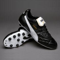 bc35ced3e267e3 Puma Football Boots - Puma King Top di FG - Firm Ground - Soccer Cleats -  Black-White-Gold - Sports et équipements - Foot - Puma