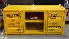Yellow Container Console   Flickr - Photo Sharing!