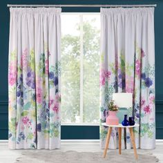 Foxglove Curtains Bright Curtains, Pleated Curtains, Grey Curtains, Curtains Living, Curtains Ready Made, Purple Home Decor, Wild Flower Meadow, Bluebellgray, Hydrangea Colors