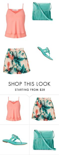 """""""Untitled #101"""" by fefe-tifanie ❤ liked on Polyvore featuring Miss Selfridge, Topshop, Tory Burch and ILI"""