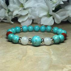 Your place to buy and sell all things handmade Stretch Bracelets, Beaded Bracelets, Rose Quartz Bracelet, Black Tourmaline, Perception, Serenity, Jasper, Turquoise Bracelet, Crystals