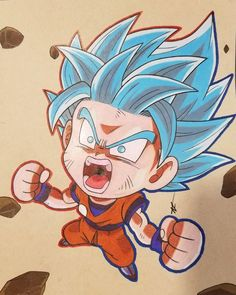 Dbs-Goku SSJ Blue Kioken by thesexychurro on DeviantArt Chibi Goku, Anime Chibi, Art Anime, Dragon Ball Image, Dragon Ball Z, Goku Blue, Foto Do Goku, Chibi Marvel, Kid Goku