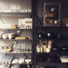 Loads of new stock arriving/arrived this week... New homewares deliveries and new additions to our black ceramic cookware range. As well as vintage jars and new glassware and chopping boards.......Phew! #kitchenware  #tierranegra #ceramics #cookware #homewares #cookware #vintagefurniture  #interiors #interiorstyling #interiorstyling #vintage #ukinteriorshoplove #merchandising #shopdisplay