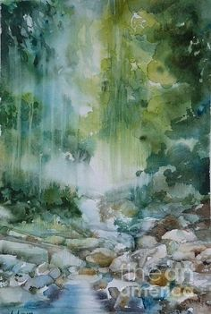 Rainforest Painting by Donna Acheson-Juillet - Rainforest Fine Art Prints and Posters for Sale