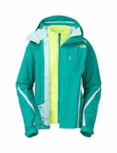 Womens Blue The North Face Kira Triclimate Jacket Waterproof, Insulated, Winter 3 In 1 Jacket, North Face Jacket, Vest Jacket, Rain Jacket, The North Face, North Face Women, Cute Jackets, Jackets For Women, Winter Coats Women