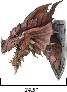 Dungeons & Dragons Red Dragon Trophy Plaque profile