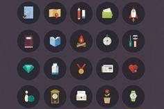 Colorful Lifestyle Icons Set by Tubik Studio Shop on @creativemarket