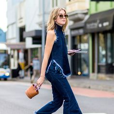 Here are 50 foolproof summer street-style outfit ideas to last you through fall, guaranteed to get you out of the inevitable denim-cutoff rut. Chic Outfits, Summer Outfits, Fashion Outfits, Womens Fashion, Hipster Grunge, Block Heels Outfit, Mode Statements, Streetwear, Summer Styles