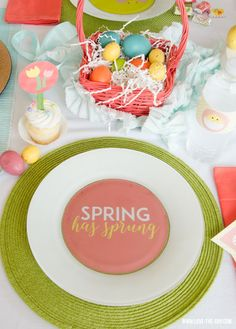 Spring Has Sprung Easter Party Tablescape