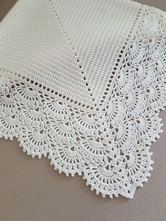 Crochet baby blanket Great as a gift for christening, baby showers, newborn babies or just for your special little one. * Colour: Cream * Measurements: Approximately width - 33,5 (85,0 cm), lenght - 33,5 (85,0 cm). * Materials: 100% cotton. * Care instructions: Hand wash recommended and lay