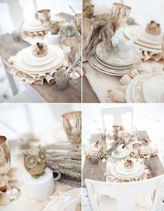 rustic & romantic winter reception