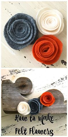 How to Make Felt Flowers - 2 Bees in a Pod. Fall Decor or any season.