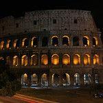 Roman Colosseum at night