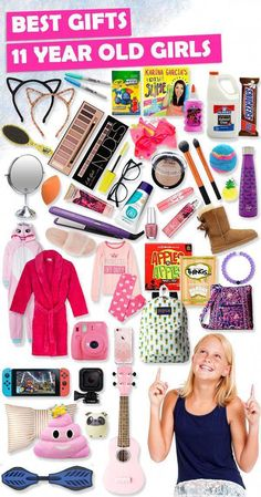 Browse our Christmas Gift Guide For Kids featuring Best Gifts For Girls. Discover unique gifts, fun family board games, kids books, and more for your 11 year old girl. These are gifts that not only will light up her eyes, but gifts she will truly love Birthday Presents For Girls, Best Gifts For Girls, Tween Girl Gifts, Birthday Gifts For Best Friend, Christmas Gifts For Girls, Toys For Girls, Gifts For Tweens, Kids Birthday Gifts, Christmas Stocking