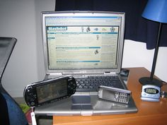 These are a few of my gadgets. The PSP is ruining my life     I think we are on the same wave length.  Please visit http://www.just4uguys.com