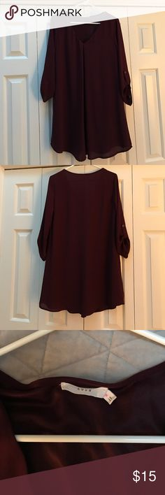 Lush maroon shift dress Lush lined maroon dress. Size M. 100% polyester. Lush Dresses