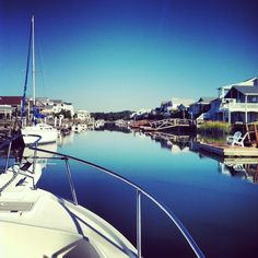 Canal at Ocean Isle Beach, North Carolina. Childhood summers with 22 family members in one house - LOVE! Holden Beach North Carolina, North Carolina Beaches, Oh The Places You'll Go, Great Places, Places To Visit, Ocean Isle Beach Nc, Myrtle Beach Sc, Vacation Destinations, East Coast