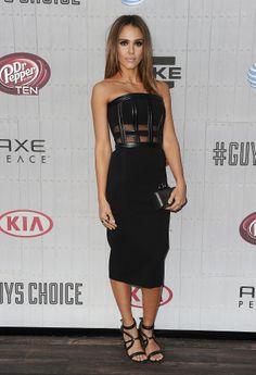 Jessica Alba in David Koma at the Spike TV Guys Choice Awards.