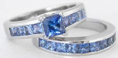 A perfect non-diamond engagement ring alternative - 1.5 ctw Shades of Blue Sapphire Ring in 14k white gold.