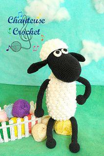 FREE Shaun the Sheep crochet pattern from Chanteuse Crochet