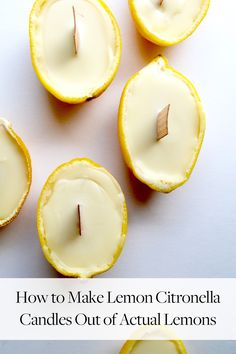 Bye, mosquitoes, adorn your patio table with these adorable homemade lemon candles