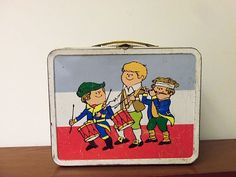 Patriotic Vintage Metal Lunchbox 1974 Ohio Art Drum and Fife Disney Cartoon Characters, Disney Cartoons, Vintage Lunch Boxes, Tv Trays, Metal Lunch Box, Childhood Days, Box Tv, Good Old, Vintage Metal