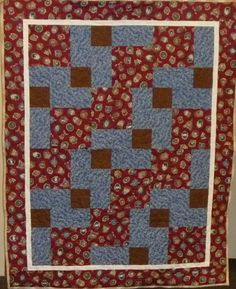 An avid golfer will be wrapped in this quilt soon.
