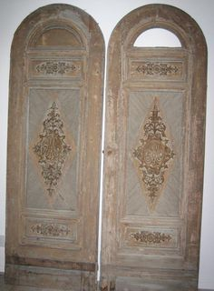 French doors, 18th C. Initialed with Marie Antoinette's monogram.