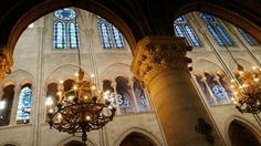 Notre Dame Continents, Notre Dame, Tower, Chandelier, Europe, Ceiling Lights, Adventure, Building, Rook