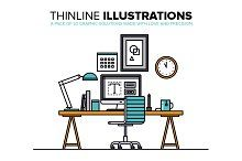 Thinline Illustrations Collection