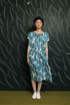 Such a lovely dress and beautifully styled, http://www.mina-perhonen.jp