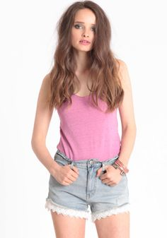 Lacey Denim Cutoff Shorts By Free People