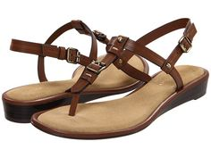 Etienne Aigner brown leather sandals - simple, sheik, and I like buckles.