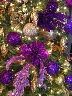 Purple & Gold Christmas Tree