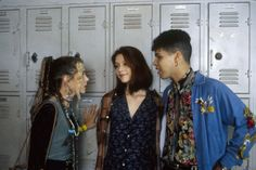 """MY SO-CALLED LIFE - """"Strangers in the House"""" - Season One - 10/20/94Sharon's dad's heart attack mended the broken friendship between Sharon and Angela (Claire Danes, center). A.J. Langer (Rayanne) and Wilson Cruz (Rickie) also starred.(AMERICAN BROADCASTING COMPANIES, INC.)"""