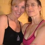 Infinite Yoga's Dana Rae Pare with mentor Ana Forrest