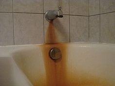How to Remove Rust Stains From Tub-  use Clorox2 or Hydrogen Peroxide.