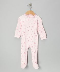 Take a look at this Pink Sweet Dreams Fairy Footie - Infant by Kushies on #zulily today!