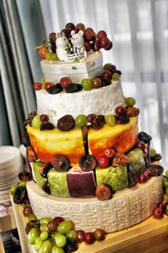 """cheese"" cake, wedding cake. Love it!"