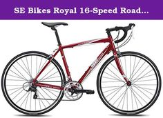 SE Bikes Royal 16-Speed Road Bicycle, Red, 54 cm. Introduce yourself to the world of road bikes through the lightweight aluminum chassis of the Royale 16. Equipped with a carbon fiber road fork and precision Shimano shifting, this bike is comfortable in any group ride you take it to.