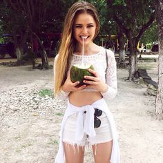 One of the perks of Tulum : sipping of fresh coconut water 🌴🐢 Teen Fashion, Love Fashion, Fashion Outfits, Fashion Trends, Fasion, Fashion Inspiration, Cool Outfits, Summer Outfits, Stylish Outfits