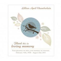 Birdwatcher Plantable Seeded Paper Memorial Funeral Cards #daisydays #wedding #lovebird #dove