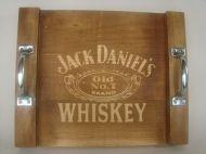 Bandeja Jack Daniels Em Madeira - Média