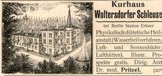 1899 : KURHAUS WOLTERSDORFER SCHLEUSE